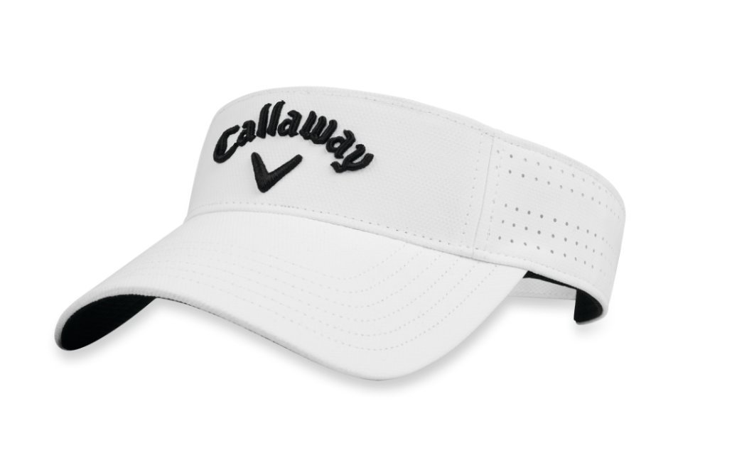 Callaway Golf 2018 Women's Opti Vent Adjustable Visor, White/ Black