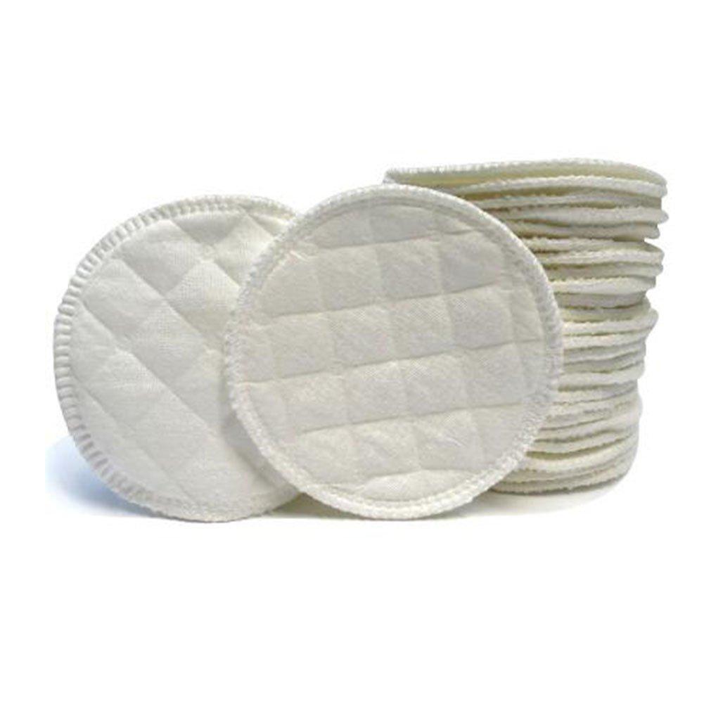 SunBeter Set de Coussinets d'Allaitement 3 couches de coton ré utilisables de couche coussin absorbant absorbant mou lavable avec 1 sac de stockage-30 paquets