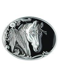 Senmi Single Horse Head Western Native American Indian Belt Buckles