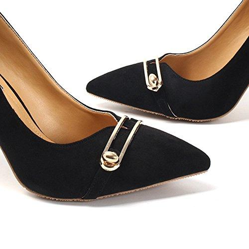 De Boca Nuevas Con Seis KPHY Bien Gamuza Partido Zapatos Zapatos Black Mujeres Treinta Superficial Zapatos De Consuelo La De Las Puntas Caída five El Todo Thirty Tacon Tacon De Y wvpqH