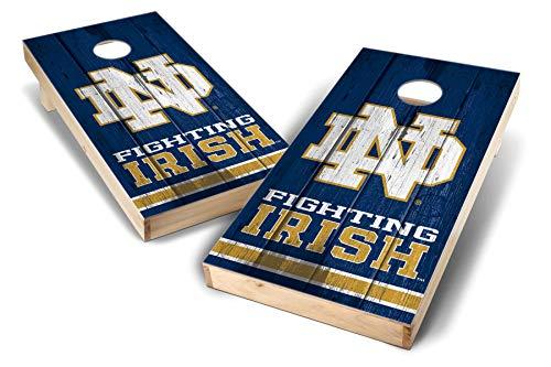 Game Notre Dame - PROLINE NCAA College 2' x 4' Notre Dame Fighting Irish Cornhole Board Set - Vintage
