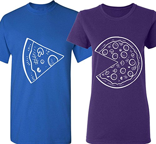 dc324a166a The Missing Piece Pizza & Slice – Matching Couple Shirts – His and Her T- Shirts – Love Tees. All Valentines Day ...
