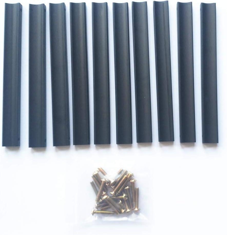 10 Piezas Negro Y Plata Solid Space Aleaci/óN De Aluminio Mango Moderno Contra/íDo Gabinete Puerta Caj/óN De La Tira Mango