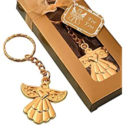 60 Angel Themed Gold Metal Key Chains