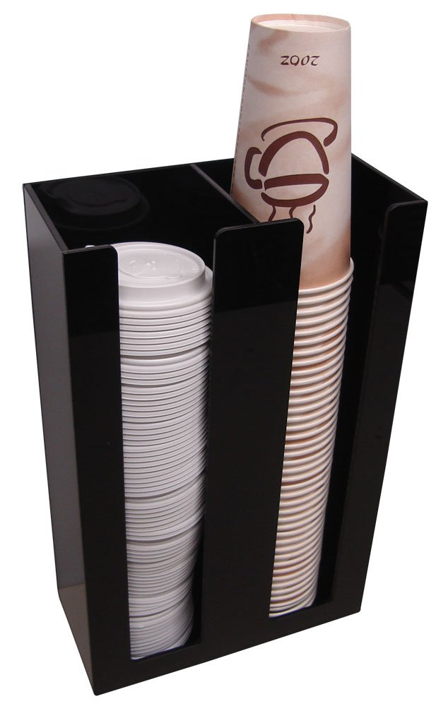 2 Sl Cup Lid Holder Dispenser Organizer Coffee Cup Caddy Organize Your Coffee Counter with Style (6004)