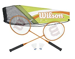 Wilson Adult\'s All Gear Badminton Kit (2-Piece)