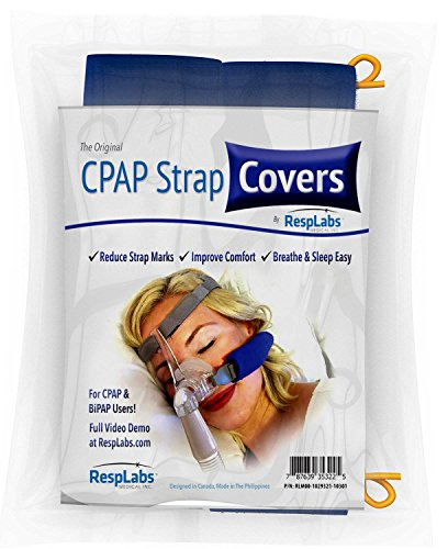 RespLabs CPAP Cushion Pads | Soft Comfort Universal Strap Cover Pad for Your CPAP Headgear | Prevent Skin Irritation and Reduce Redness from Your CPAP Straps