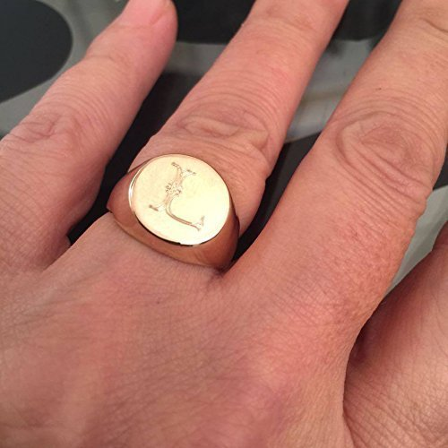 Amazon Engraved ring Personalized Ring Signet Ring Initial