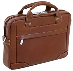 McKleinUSA BRONZEVILLE 15484 Brown Leather Medium Laptop Brief