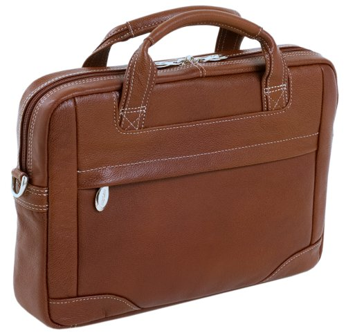 McKleinUSA MONTCLARE 15494 Brown Leather Netbook Laptop Brief