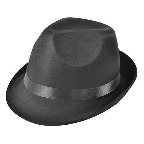 Bristol Novelty BH509 Madness Hat Black Fedora, One Size -