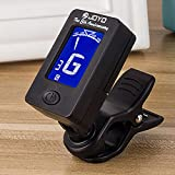 zhoule Guitar clip tuner, 360-degree rotating electronic digital tuner for acoustic and electric guitars, bass, violin mandolin, banjo, high-precision calibration, automatic shutdown.