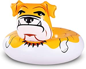 WateBom Bulldog Float, 53 inches Giant Inflatable Pool Float Tube for Party, Summer Fun Pool Toys for Adults and Kids