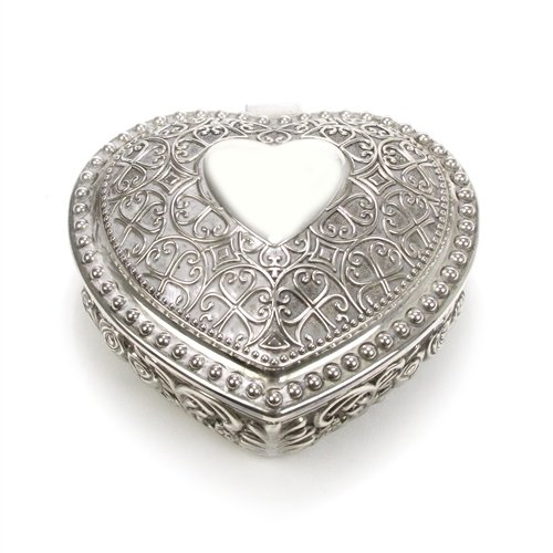 Silverplate Heart Box (Jewelry Box by FTD Florist, Silverplate, Hearts & Roses)
