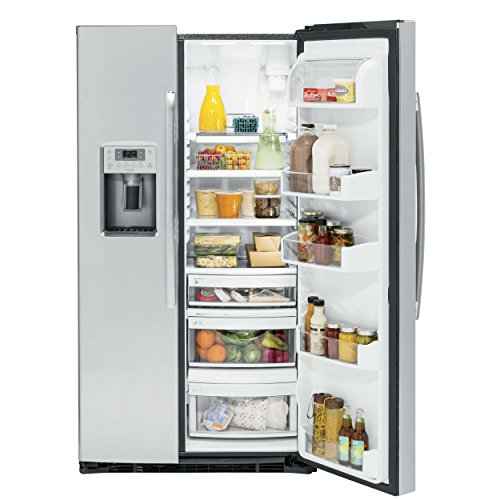 GE Cu. Stainless Side-By-Side Refrigerator