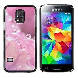 LECELL -- Funda protectora / Cubierta / Piel For Samsung Galaxy S5 Mini, SM-G800, NOT S5 REGULAR! -- Pink Water Drop Pink Splash --