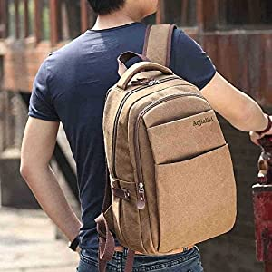 New Men's Canvas College Schoolbag Backpack Laptop Handbag Shoulder Bag Rucksack