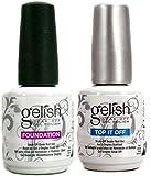 Gelish Gel Led Foundation Base Coat Gel and Top It Off Coat