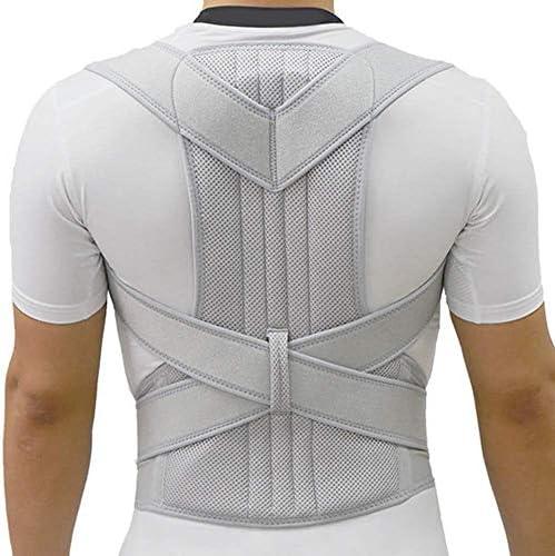 姿勢矯正脊柱側Back症背部装具背骨コルセットベルト肩療法サポート男性と女性のための貧弱な姿勢矯正ベルト、シルバー (XXL)