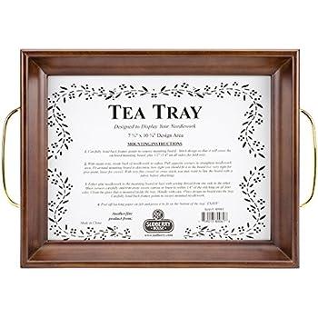 Amazon Com Sudberry House Tea Tray 10 X 13 Quot Mahogany