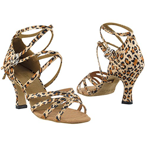 50 Tinten Animal Print Dance Dress Schoenen Collectie, Bruiloft Pumps: Dames Comfort Ballroom Schoenen Voor Latin, Tango, Salsa, Swing, Theather Kunst Door Party Party (2,5, 3 & 3,5 Hakken) 5008 Leopard