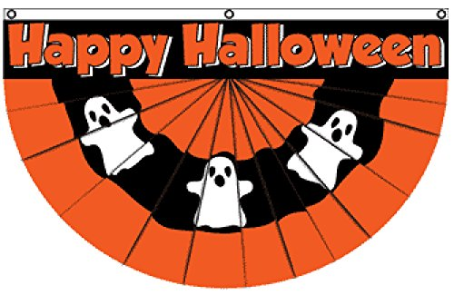 Halloween (Ghost) Bunting Flag 5x3ft Poly