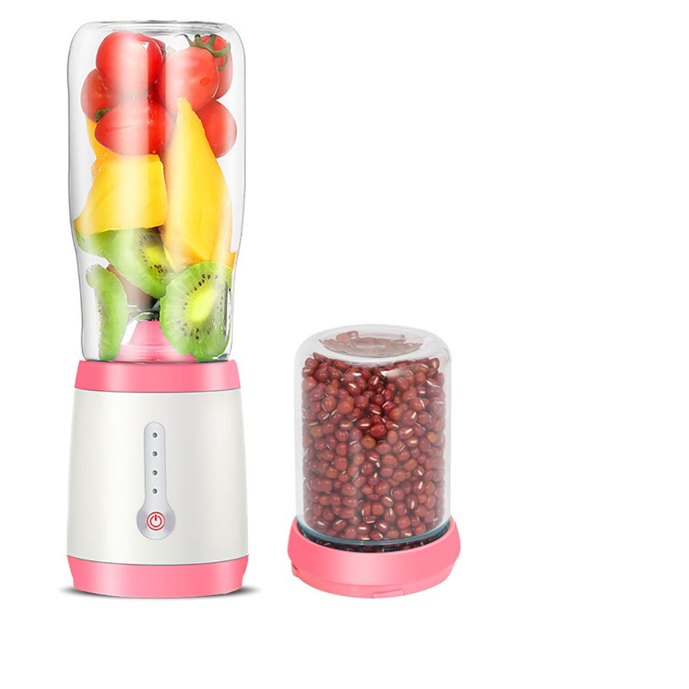 YYYHAN Fruit Juicer, Portable Juice Blender 500Ml Fruit Mixing Machine with USB Charger Suitable for Home Office Sports Travel Outdoors,B