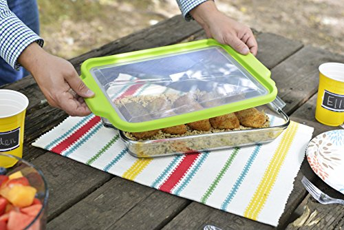 Anchor Hocking 3-Quart Glass Baking Dish with Green TrueFit Lid by Anchor Hocking (Image #4)