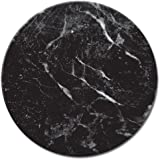 CounterArt Black Marble Lazy Susan Serving Plate