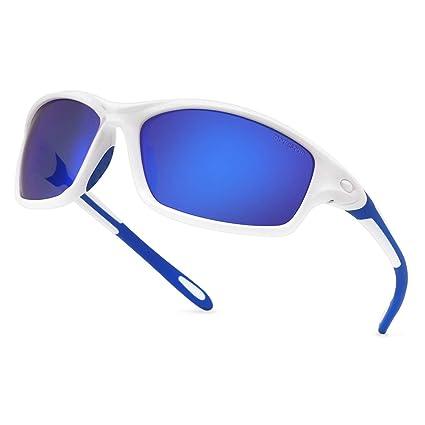 modesoda Men Sports Sunglasses Polarized for Baseball Fishing Cycling Flexible TR90 Frame Sun Glasses Women