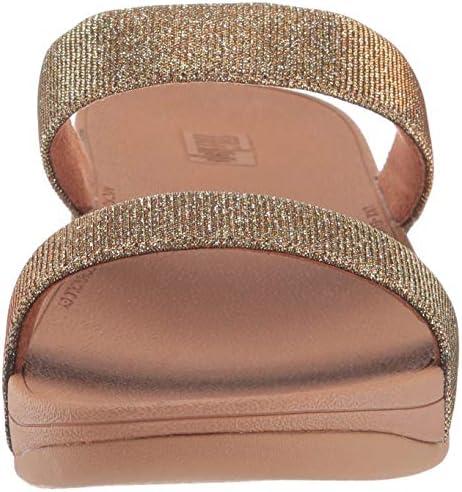 Fitflop Women's Lottie Glitzy Slide Artisan Gold 6 M US