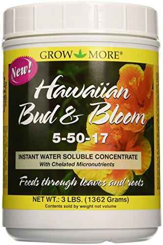 Grow More 7510 Hawaiian Bud and Bloom 5-50-17, 3-Pound (Best Fertilizer For Tropical Plants)