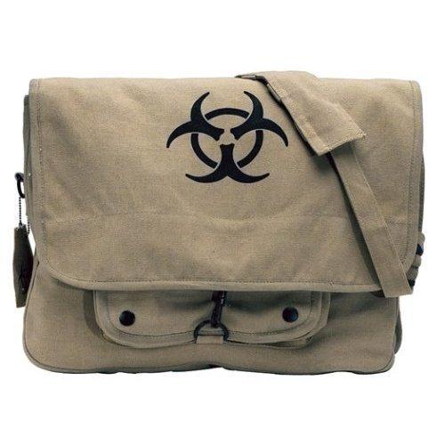 "Khaki ""Bio-Hazard"" Messenger Bag"