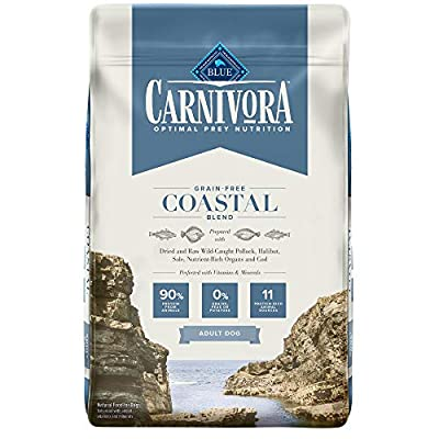 Blue Buffalo Carnivora Optimal Prey Nutrition High Protein, Grain Free Natural Adult Dry Dog Food, Coastal Blend 22lb