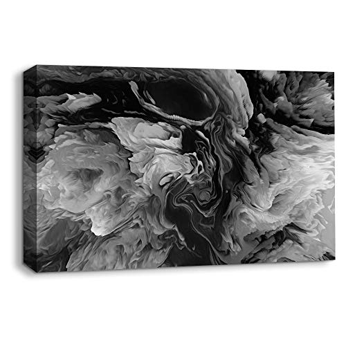 - NWT Canvas Wall Art Abstract Black and White Painting Artwork for Home Prints Framed - 24x36 inches