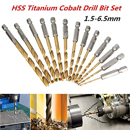 hank 1.5-6.5mm HSS Titanium Coated Drill Bit Set ()