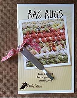 rag rugs easy detailed rectangular rug plus tool - Rag Rugs
