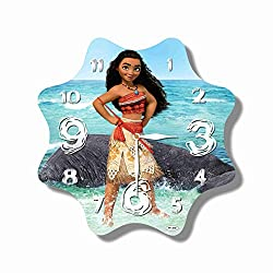 MAGIC WALL CLOCK FOR DISNEY FANS FBA Moana 11'' Handmade Made of Acrylic Glass - Get Unique décor for Home or Office - Best Gift Ideas for Kids, Friends, Parents and Your Soul Mates