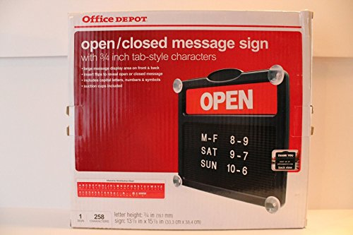 office-depot-open-closed-message-sign-includes-258-characters