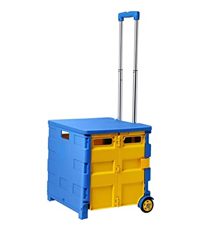 ea2fe17ebe34 Amazon.com: Wagons Shopping Trolley with Lid Grocery Laundry Utility ...