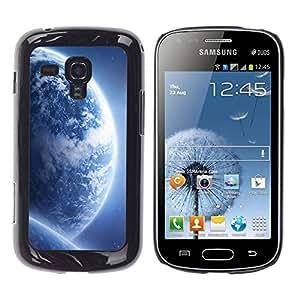 Qstar Arte & diseño plástico duro Fundas Cover Cubre Hard Case Cover para Samsung Galaxy S Duos / S7562 ( Blue Planets Universe Art Alien Galaxy)
