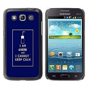 Paccase / SLIM PC / Aliminium Casa Carcasa Funda Case Cover - Funny Geek Keep Calm - Samsung Galaxy Win I8550 I8552 Grand Quattro