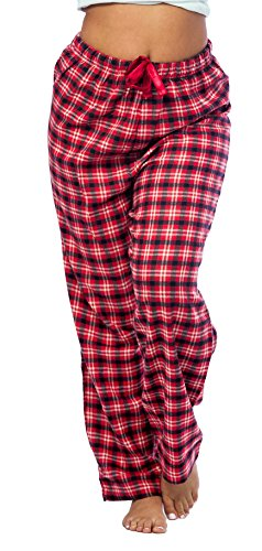 Lounge Printed Pants Flannel (Flannel Lounge Pants, 100% Cotton Flannel, 3 Colors, S,M,L,XL, Style#FPJ (Medium, Red))