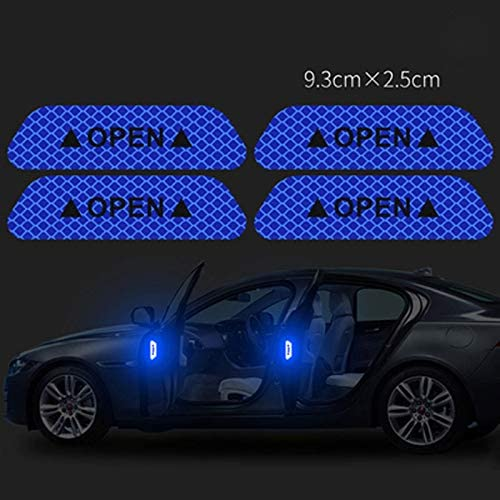 4Pcs Universal Auto Car Door Open Sticker Reflective Tape Safety Warning Decal