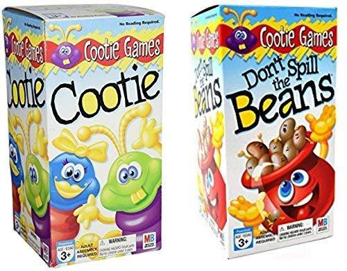 Games Kids Set (Bonus LJIF LAPPY Pen) Cootie & Don't Spill The Beans Gift Set Bundle ()