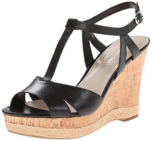 Franco Sarto Womens Uitzwenkbare Espadrille Sandaal Zwart