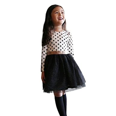 K-youth Vestidos para Niñas para Fiestas En Oferta Fashion Vestidos Niña Otoño Invierno Tutú