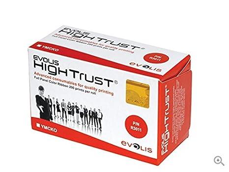 Amazon.com: Evolis R3011 YMCKO cinta para impresora original ...