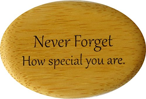 Never Forget How Special You Are Bamboo for You. Natural, Loving Reminder for Those You Wish to Encourage. From Lifeforce Glass, Inc.