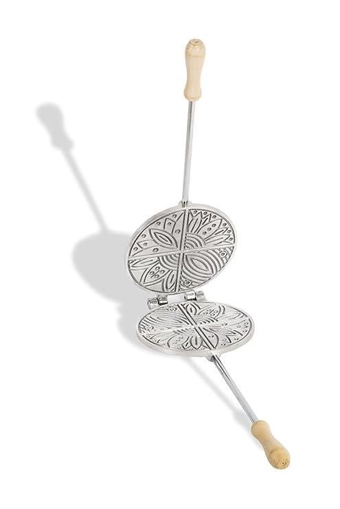 CBE Elettrodomestici - 2030100AL - Molde redondo de aluminio para galletas/obleas de barquillo típicas